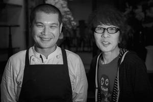 坂崎幸之助さんと小池俊一郎シェフ